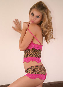 Jannah Shows Off Her Tight Round Perfect Ass In Her Leopard Print Panties - Picture 10
