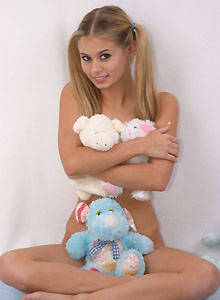 Teen With Pigtails Squeezes Her Perky Tits Together - Picture 11
